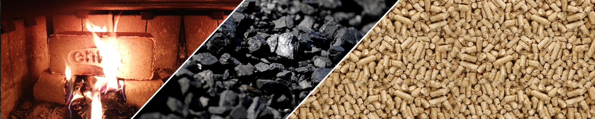 We have a large selection of wood pellets, coal and bio bricks